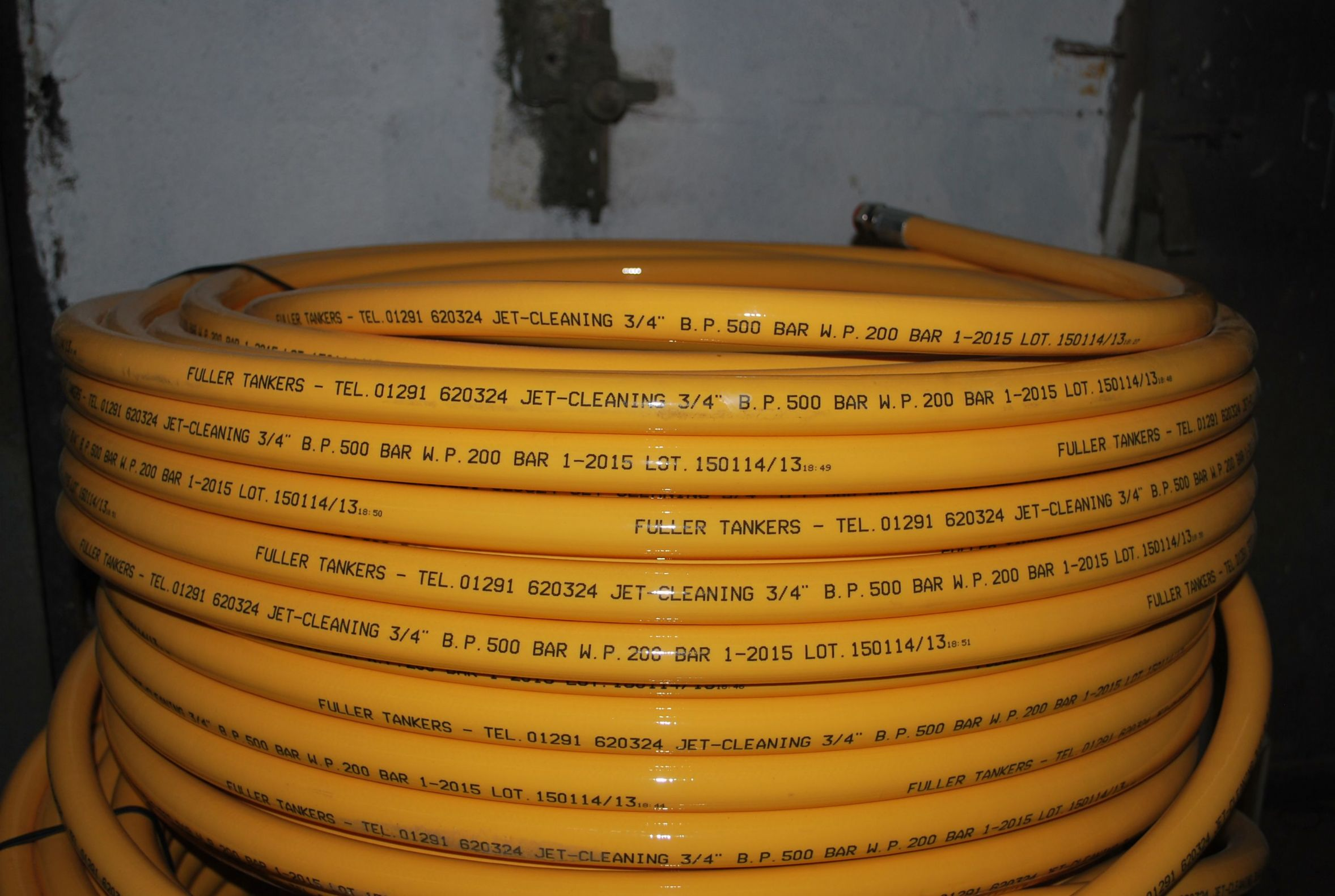 150m Of 3 4 Fuller Thermoplastic Sewer Jetting Hose